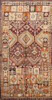 Vegetable Dye Authentic Moroccan Berber Oriental Area Rug Hand-knotted WOOL 6x11