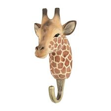 Wildlife Garden  Hook   Hand Carved   Giraffe