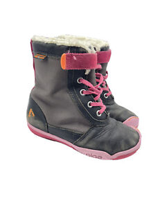 Kids Girls Plae Boots Pink Lace Winter Size 12 Youth