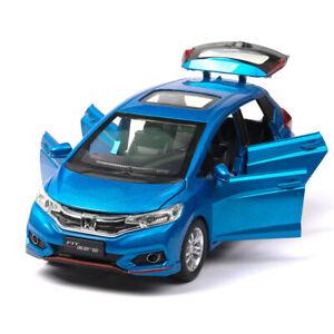1:32 Honda GK5 Fit Metal Diecast Model Car Toy Collection Sound&Light Pull Back