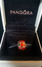 Genuine Retired Pandora Red Hot Love Enamelled Heart Bead and Box