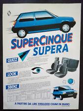 Pubblicita'Advertising Werbung RENAULT Supercinque+DE AGOSTINI Narrativa(A14)