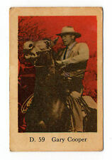 1960s Swedish Film Star Card Star D Set # 59 American Actor Gary Cooper
