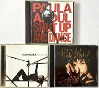 PAULA ABDUL CD Lot of 3 Rare RADIO PROMO Head Over Heels, Spellbound, Dance Mix