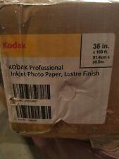 Kodak Professional Inkjet Photo Paper Roll Luster, 10.9 mil, 36'' x 100 ft White