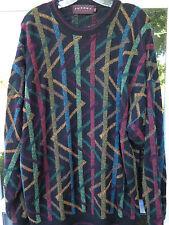 Tundra Men's Wool Blend Textured Geometric Design Crewneck Sweater XL Canada