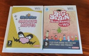 2 Wii Games: WarioWare Smooth Moves And Big Brain Academy for Wii  PAL Nintendo