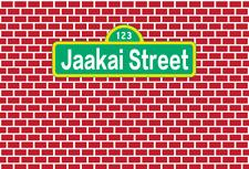 7x5ft Vinyl Customize Red Brick Sesame Street Photography Backdrop Background