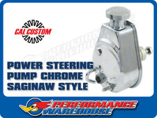 CAL CUSTOM CHROME POWER STEERING PUMP SAGINAW STYLE, CHEV, GM, HOLDEN, SBC