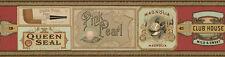 Classy Gramercy Vintage Cigars Wallpaper Border