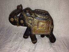 Antique Indian Hand Made Copper/brass/wooden Elephant Statue