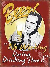 Vintage Drink, 86 Beer No working, Funny, Old Pub Bar Ale, Medium Metal/Tin Sign
