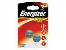 2 x Energizer CR2025 2025 DL2025 3V Lithium Coin Cell Batteries - New + Sealed