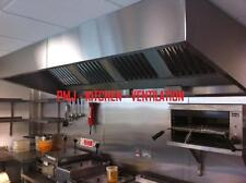 Commercial Kitchen Extractor Hood Canopies Canopy 2.5 Mtr (430) Baffle Filters