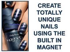 SALLY HANSEN MAGNETIC NAIL VARNISH / POLISH #906 IONIC INDIGO - AMAZING RESULTS!