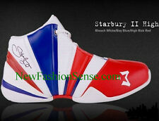 Brand New Authentic Starbury 2 White Blue Red High Top Basketball Shoes Size 4