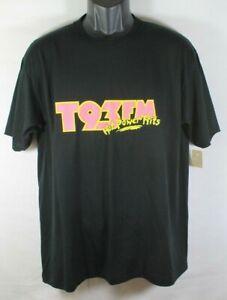 Vintage T93 FM Hot Power Hits Radio Station T-Shirt Size Large NOS USA