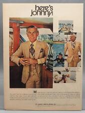 Vintage Magazine Ad Print Design Advertising Johnny Carson Apparel