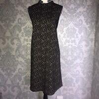 River Island, Black, BNWT, Shift Dress, UK 16, Polyester Blend