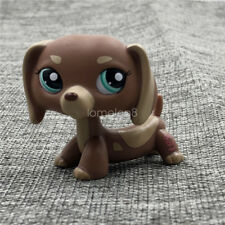 LPS #1751 Puppy ToysLittlest Pet Shop Brown Dachshund Green eyes Dogs Boys Gifts