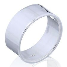 Band Ring Stamped 925 Sterling Silver 8mm Wide You Can Engrave On Unisex Design