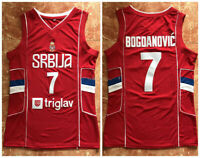 Vintage Bogdan Bogdanovic #7 Serbia Basketball Jerseys All Stitched Custom Names