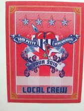 Tom Petty And The Heartbreakers Backstage Pass Original Pop Rock Music 2010 Red