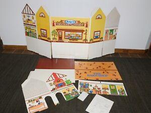 "VINTAGE 26"" BAKER'S THE BAKE SHOP CARDBOARD DOLL HOUSE NEW OLD STOCK"