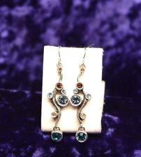 Beautiful Patricia Locke Silver Tone Earrings NEST  Swarovski Crystal NWOT