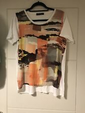 M&S Collection Silky Front Abstract Pattern Knitted Top Sz 14