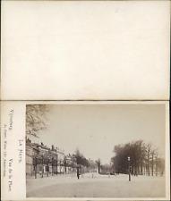 Pays-bas, La Haye, Vijverberg vue de la Place Vintage CDV albumen carte de visit
