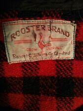 Antique Rooster Brand Mackinaw Wool Klondike Shirt Jacket 1927 RARE