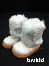 """BJD Yo-SD 1/6 Dollfie 13"""" Effner 12"""" Kish Doll Shoes White Fur Boot"""