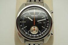 Seiko 6139-6012 con Cronógrafo Dial Negro-restaurado - 1974