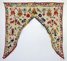 Vintage Door Valance Window Decor Wall Hanging Hand Embroidered 42 x 42 inch X12