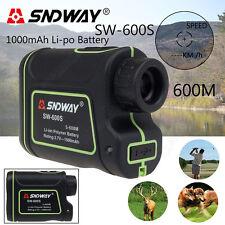 SNDWAY Laser Range Finder Distance Speed Measuring Hunting Sports Measurer 600m