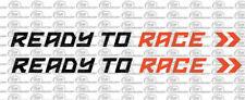 Ready to Race KTM Motorrad Auto Aufkleber 2 Teilig Sponsoren Mehrfarbig