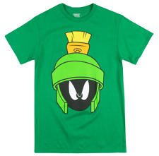 Looney Tunes Marvin The Martian Green Character Face T-Shirt Cartoon Show Nwt