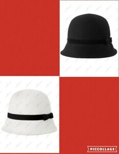 NWT Gymboree Royal Red Classic Cloche Hat  2T-3T 4T-5T Black &White Toddler Girl
