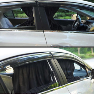2x Adjustable Car Auto Side Window Baby Sun Shade Shield Curtain Visor Cover