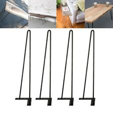 "22"" Hairpin Legs, Set of 4, DIY Solid Iron , Metal Desk Legs ,Screws Include"