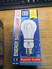ENERGY SAVING LAMP BULB CFG - 20W WITH REMOVABLE COVER - WARM WHITE