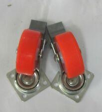 Ruote in Nylon c/piastra Block ø 50 mm portata 30 kg Arancione 2 pz a conf. New