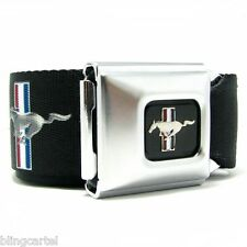 Ford Mustang Logo Official Licensed Belt Authentic Seatbelt Style Buckle Down