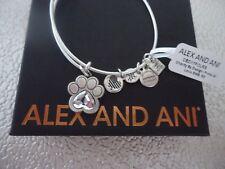 Alex and Ani  PRINTS OF LOVE II Rafaelian Silver Bangle New W/ Tag Card & Box