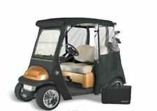 Custom Drivable 2 Person Golf Cart Enclosure Cover for Club Cars - Black
