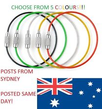 1 X Wire Cable Key Chain - multiple colours .CHEAP AND FAST POSTAGE FROM SYDNEY.