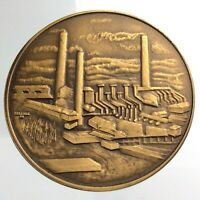 1967 Copper Cliff Ontario Centennial Medal Antiqued Bronze Wellings Mint T424