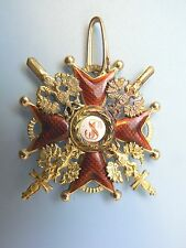 RUSSIA IMPERIAL ORDER ST.STANISLAUS MILITARY w SWORDS,COMMANDER,gold,hallmarked