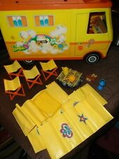 Vintage 1970 Barbie Country Camper With Accessories